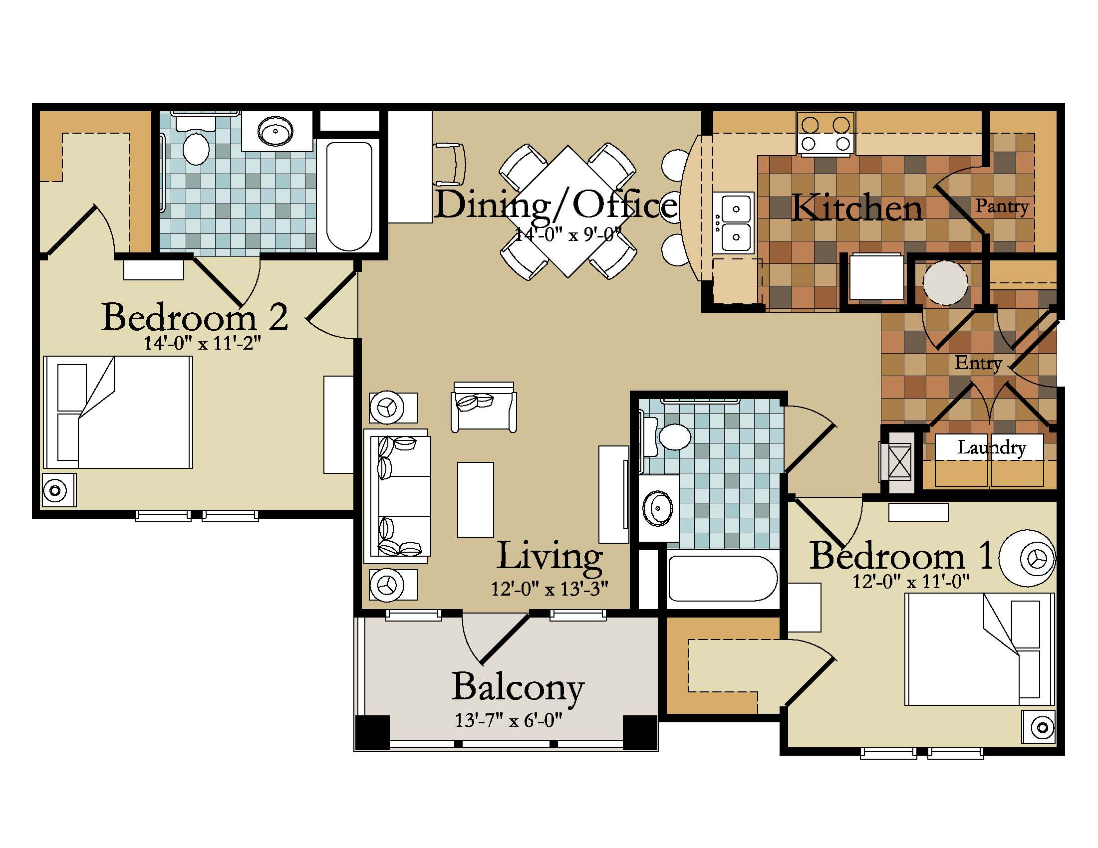 2 Bedroom Apartments Plans In Kenya – Bedroom Design 2017